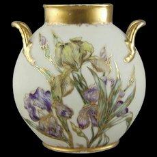 JPL Jean Pouyat Limoges Hand Painted Porcelain Vase