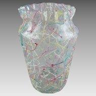 Antique Peloton Bohemian Art Glass Vase
