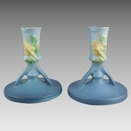 Roseville Pottery 1146-4 Columbine Candle Holders