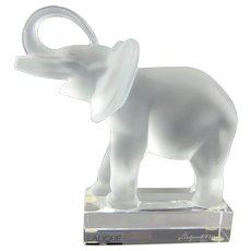 Lalique Elephant Sculpture 11801