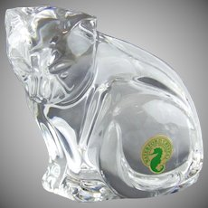 Waterford Crystal Paperweight Cat Figurine Made in Ireland