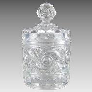 Baccarat Crystal Lidded Jar Russe Russian Pattern