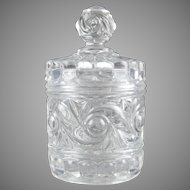 Baccarat Crystal Lidded Jar Russe Russian Pattern