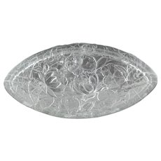 Phoenix Consolidated Glass C1931 Pond Lily Oval Candy Box 2591