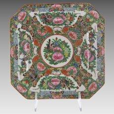 Chinese Porcelain Rose Canton Rose Medallion Plate