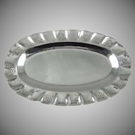 "Sanborns Mexico Sterling Silver 9"" Oval Tray"