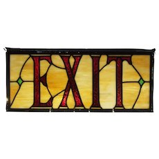 Stained Glass Exit Sign Architectural Salvage