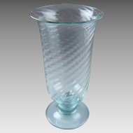 Steuben Wisteria Dichroic Color Change Glass Vase