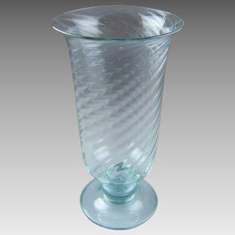 Steuben Wisteria Dichroic Color Change Glass Vase