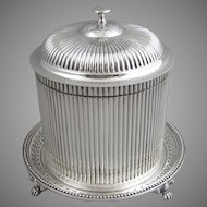 C1862 Sheffield Silver Plated Biscuit Barrel Biscuit Box