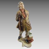 Antonio Borsato Porcelain Figure of Italian Composer Gioachino Antonio Rossini