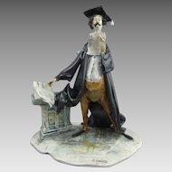T. Moretto  Lo Scricciolo Italian Ceramic Sculpture