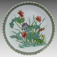 Porcelaine De Paris Plate with Water Lily Decoration