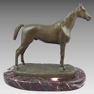 Isidore Bonheur Bronze Horse Sculpture Stallion Thoroughbred