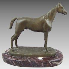 Isidore Bonheur Bronze Horse Sculpture Stallion Thoroughbred