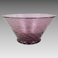 Steuben Glass Amethyst Silverina 6118 Bowl Circa 1928