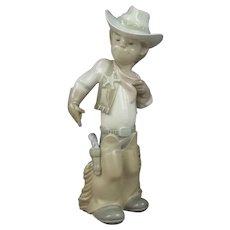 Lladro Porcelain Figure Sheriff Cowboy