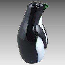 Orient & Flume Art Glass Penguin Paperweight