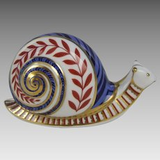 Royal Crown Derby Garden Snail Paperweight Ceramic Stopper