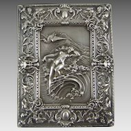 William B. Kerr American Sterling Repousse Silver Cigarette Case – Venus on the Waves
