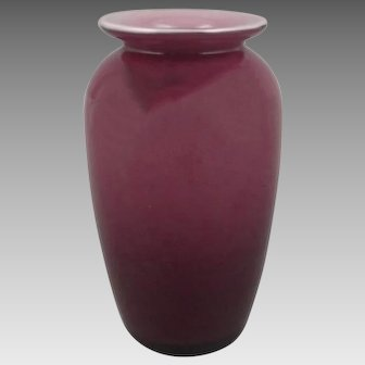 Moretti Empoli Balboa Italian Cased Plum Lavender Glass Vase