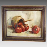 Sam Thiewes Still Life Oil on Board
