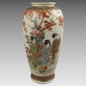 Satsuma Ceramic Cabinet Vase