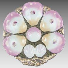 Antique Porcelain Oyster Plate C.T. Germany C. Tielsch & Co.