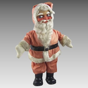 Vintage Cloth Face Santa Claus Doll