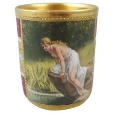 19th C Ambrosius Lamm Dresden Porcelain Cabinet Cup Cann Sylphide Ballet