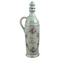 """Amoges Hand Painted Porcelain 10.5"""" Cologne Bottle"""
