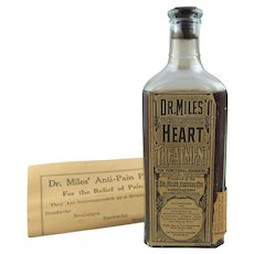 Dr. Miles Heart Treatment Full Unopened Bottle plus Original Pamphlet