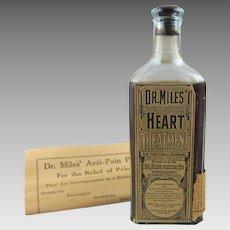 Dr. Miles Heart Treatment Full Unopened Bottle plus Original Pamphlet