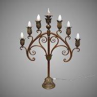 Bronze Candelabra Lamp