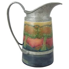 William Moorcroft Eventide Tudric Pewter Mounted Pitcher