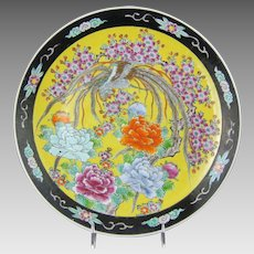 Japanese Porcelain Charger with Mythical Phoenix Hō-ō