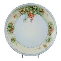 T & V Tressemanes & Vogt Limoges Porcelain Charger Plate with Red Currants