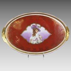 Antique Porcelain Royal Vienna Style Portrait Tray