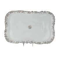 Haviland & Co. Limoges France 20.5 Inch Rectangular Meat Platter with Well