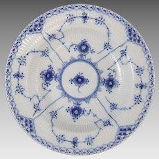 Royal Copenhagen Porcelain Blue Fluted Half Lace Rim Soup Bowl