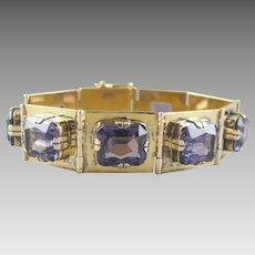 Vintage Alexandrite 14k Gold Bracelet