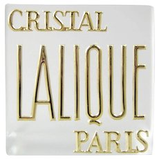 Lalique Cristal Paris Trade Sign