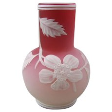 Thomas Webb & Sons Peachblow Cameo Vase