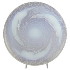 Sabino  Birth of a Star Coupe Spirale Opalescent Glass Nudes Charger