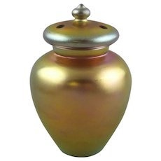 Steuben 2812 Covered Vase Gold Aurene Glass Potpourri Jar