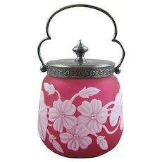 Thomas Webb & Sons English Cameo Glass Sweetmeat Jar