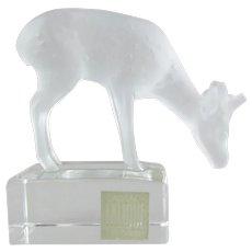 Lalique Cristal  Deer Paperweight 11804