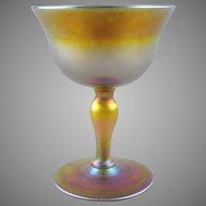 Tiffany Favrile Glass Wine Goblet