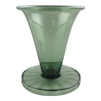 Steuben Glass 596 Vase Spanish Green for T.G. Hawkes & Co.