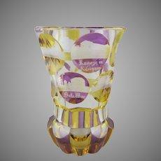 Haida Friedrich Egermann Engraved Glass Beaker